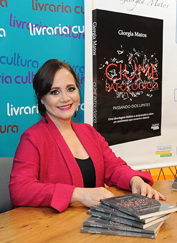 Lancamento do livro Ciume Patologico - passando dos limites - Giorgia Matos, psicanalista, escritora e palestrante